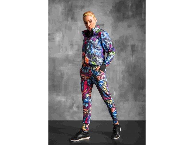Volné sportovní kalhoty SDD954 - Mosaic comics jeans