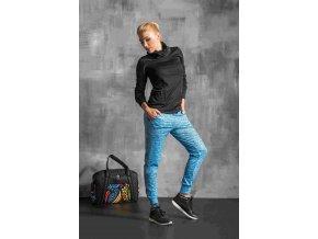 Volné sportovní kalhoty SDD501 - Blue Melange
