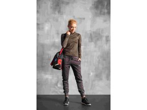 Volné sportovní kalhoty SDD902 - Grey Melange