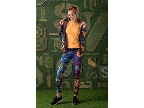 Běžecké Legíny s multifunkčním pasem OSLP93 - Mosaic Jeans
